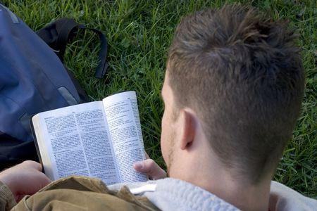 Man Reading Bible Stock Photo - 260287