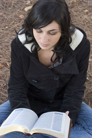 Woman Reading Bible photo