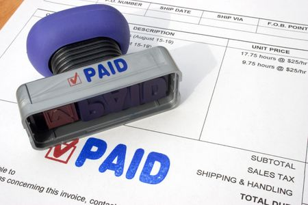Paid Bills Stock Photo
