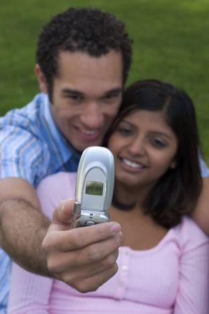 Phone Couple Stock Photo - 339607