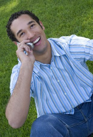 Laughing Phone Man Stock Photo - 339564