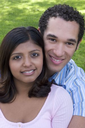 indian blue: Smiling Couple Stock Photo
