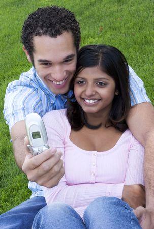 Phone Couple Stock Photo - 379058