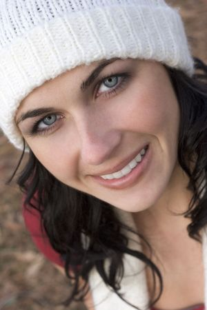 beanies: Smiling Woman Stock Photo