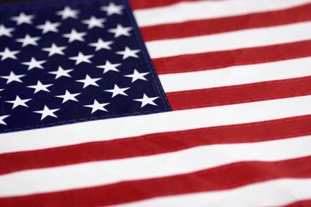 Bandera de América  Foto de archivo - 397791