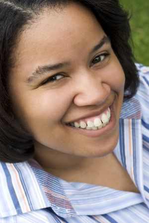 Smiling Black Woman Stock Photo - 408239