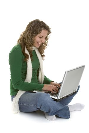 Laptop Girl Stock Photo