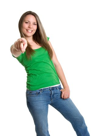 Teenage Girl Pointing