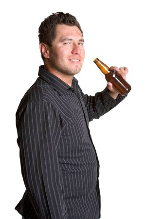 man drinkt bier: Man bier drinken Stockfoto