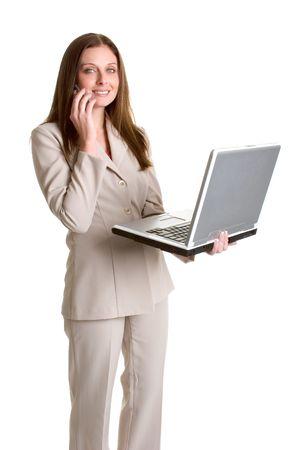Laptop Phone Woman photo