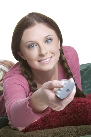 clicker: Girl Watching Television