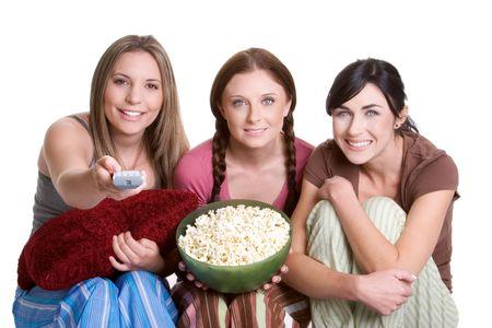 Personas viendo la televisión  Foto de archivo - 924877
