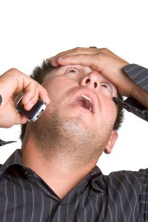 exasperated: Stressed Man