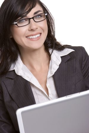 Laptop Businesswoman Stock Photo - 933511