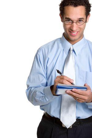 Man Writing Check photo