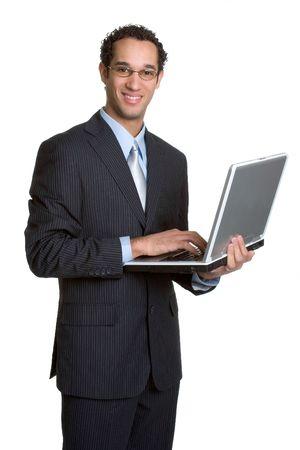 Laptop Businessman photo