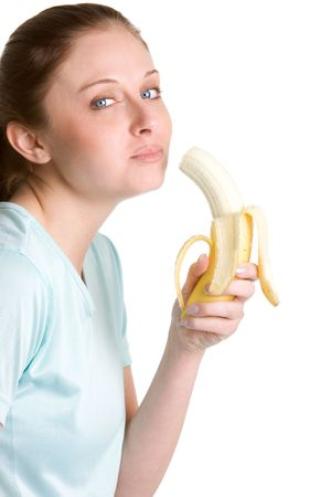 Woman Eating Banana photo