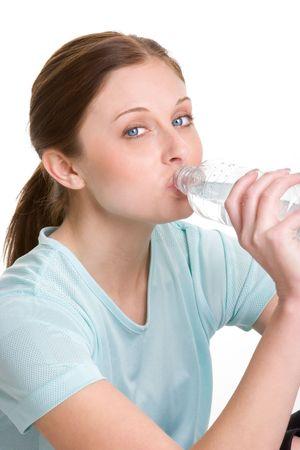 Girl Drinking Water photo