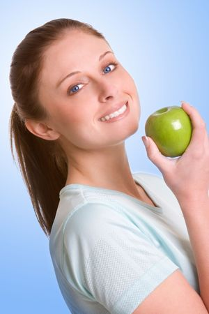 Woman Eating Apple photo