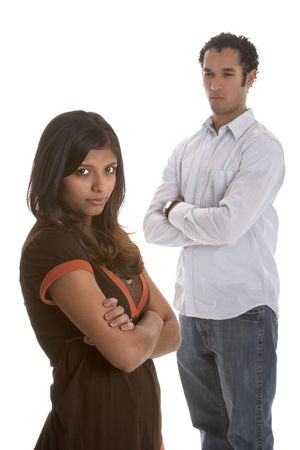 couple arguing: Angry Couple Stock Photo