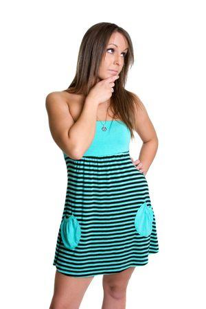 Thinking Girl Stock Photo - 980540