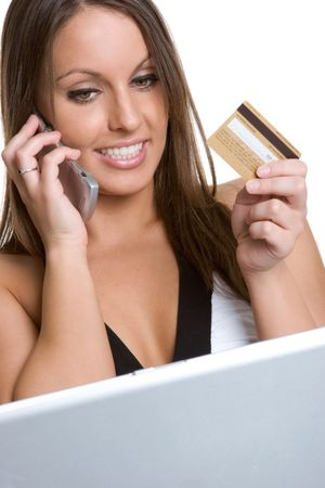 Woman Internet Shopping Stock Photo - 980542
