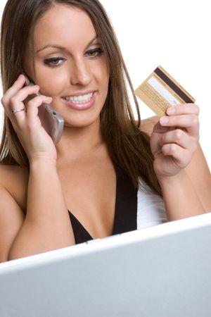 Woman Internet Shopping photo