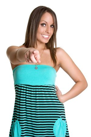 Pointing Woman Stock Photo - 980553