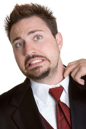 uncomfortable: Uncomfortable Man Stock Photo