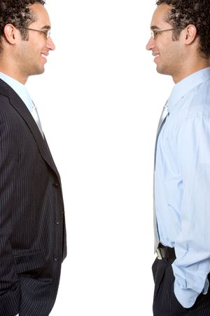 Twin Businessmen Stock Photo