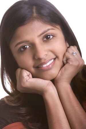 indian girl: Smiling Indian Girl Stock Photo