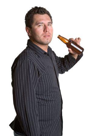 Bier Man Stockfoto