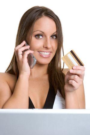 Girl Shopping Internet photo