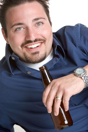 Man with Beer Stock Photo - 1106934