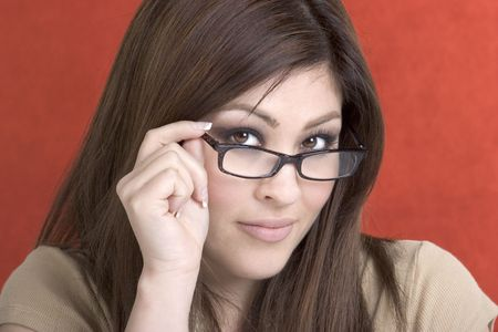 spaniards: Glasses Woman Stock Photo