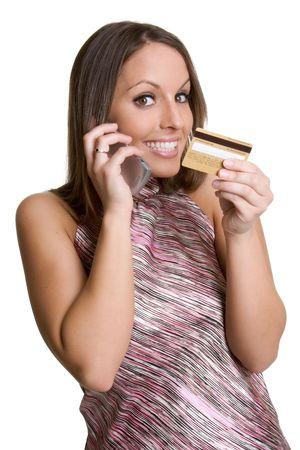 Smiling Credit Card Woman photo