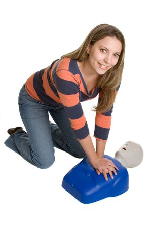 compressions: CPR Training Stock Photo