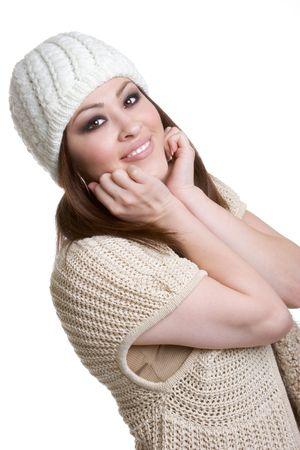 beanies: Muchacha Joven Sonriente