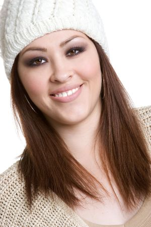 beanies: Happy Young Woman Stock Photo