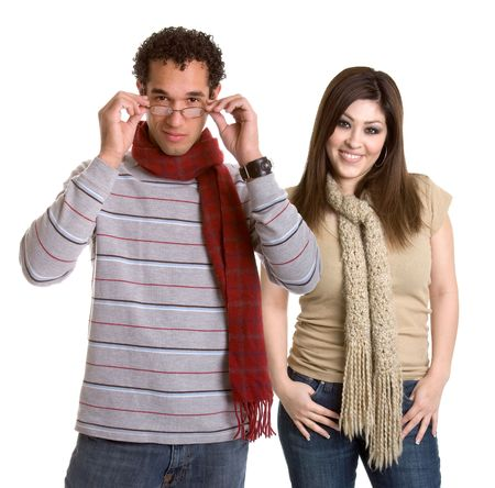 spaniard: Winter Friends Stock Photo