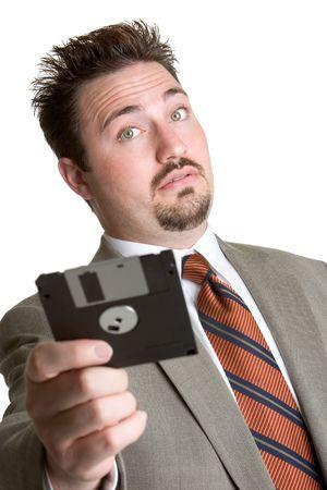 Man Holding Disk photo