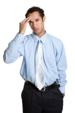 worried businessman: Worried Businessman Stock Photo