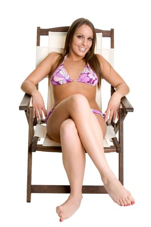 suntanning: Sunbathing Woman Stock Photo
