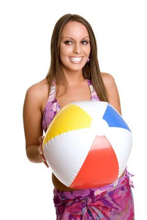 beach ball girl: Beach Ball Girl  Foto de archivo