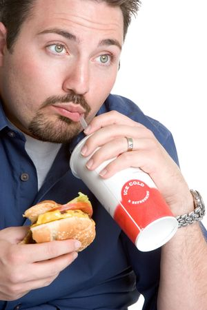 Man with Fast Food photo