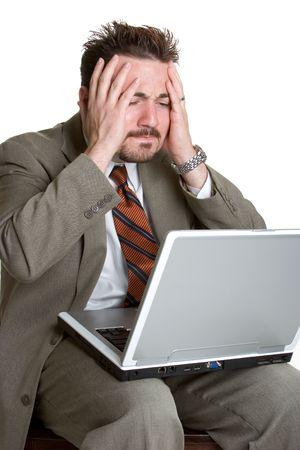 Worried Laptop Man