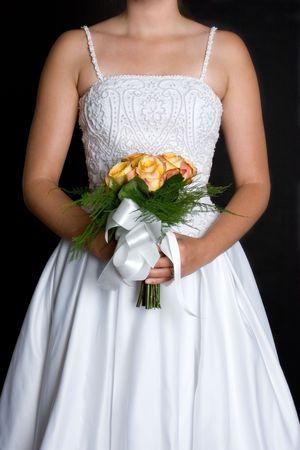 Wedding Dress and Flowers photo