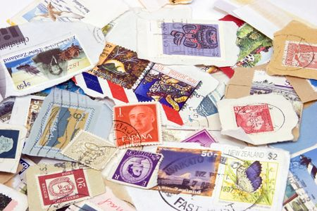Stamp Collection Stock Photo - 1341381