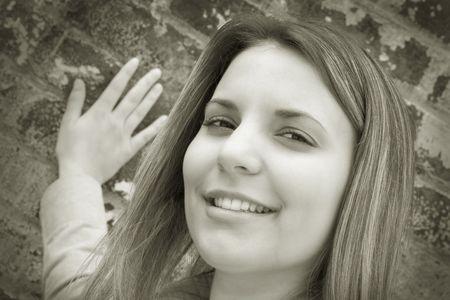 Pretty Teen Smiling Stock Photo - 1348899