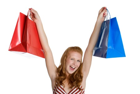 Excited Shopping Girl Stock Photo - 1470507